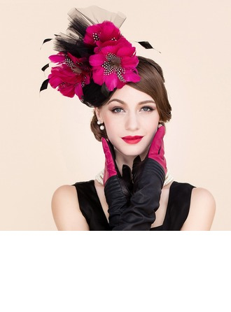 Dames Mode Batiste avec Feather/Tulle Chapeaux de type fascinator