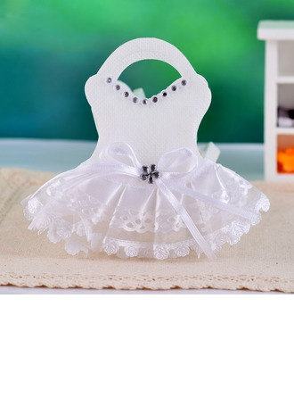 Wedding Dress Design Favor Bags With Laces
