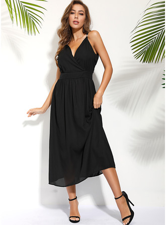 Spaghetti Sangle Sans Manches Maxi Robes tendance