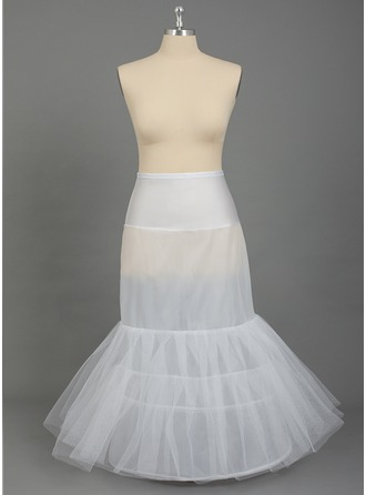 Women Nylon/Tulle Netting Floor-length 2 Tiers PLUS SIZE Petticoats
