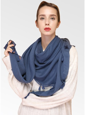 Solid Color Light Weight Cotton Square scarf