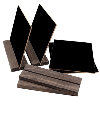 Simple Wood Blackboards (Set of 4)