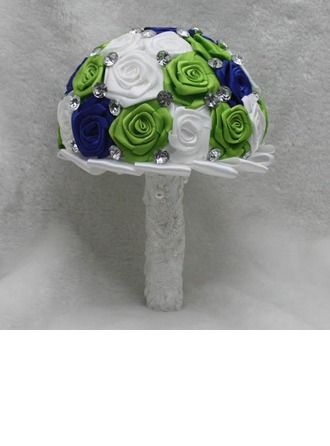 Nice Round Satin Bridal Bouquets/Bridesmaid Bouquets