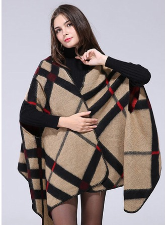 Plaid Oversized Ponchos