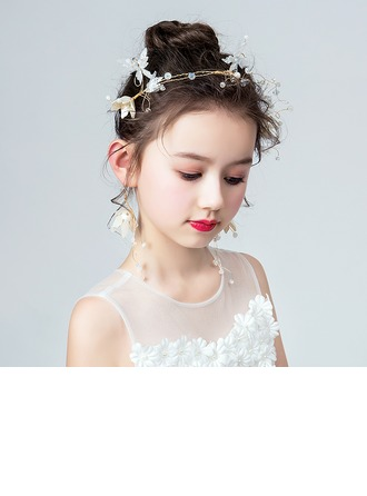 Rhinestones With Flower Headbands/Earrings (Set of 2)
