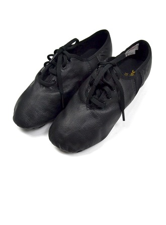 Women's Real Leather Flats Ballet Jazz Dance Shoes