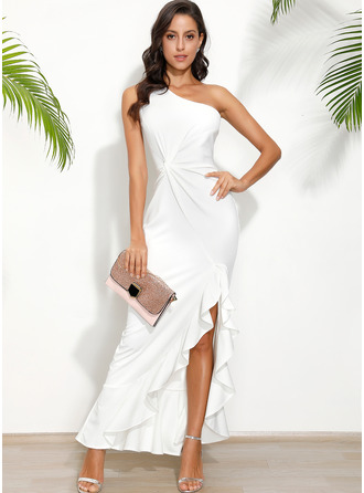 Polyester With Solid/Slit Maxi Dress