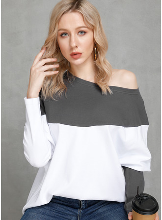 Long Sleeves Polyester One Shoulder Вязание ()