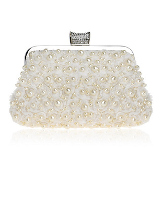 Elegant/Charming/Fashionable/Classical Metal/Polyester/Imitation Pearl Clutches/Evening Bags