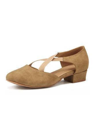 De mujer Nubuck Tacones Entrenamiento Zapatos de danza