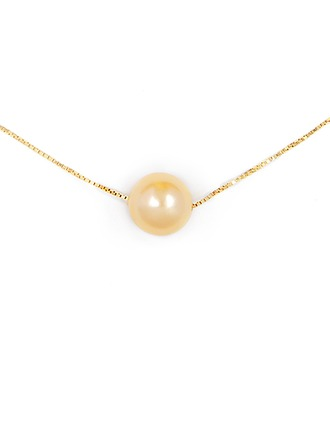Silver Pearl/Beaded Circle Pearl Necklace For Women For Mother/Mom