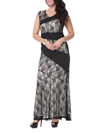 Lace With Print Maxi Dress