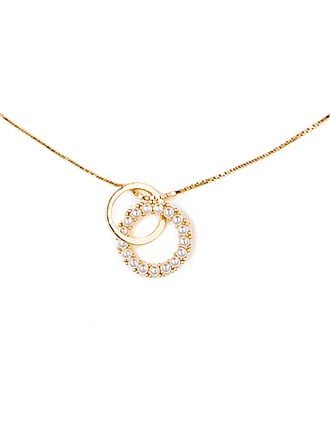 Silver Pearl/Beaded Circle Pearl Necklace For Women For Girlfriend