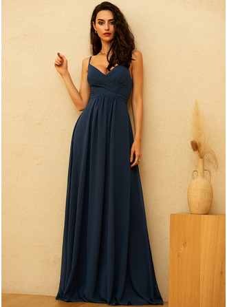 V-Neck Sleeveless Maxi Dresses