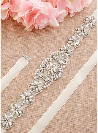 Único Satén Fajas con Diamantes de imitación/La perla de faux