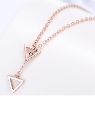Classic Copper/Zircon/Gold Plated/Silver Plated/Rose Gold Plated Necklaces