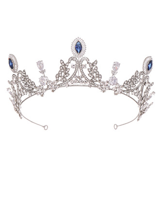 Ladies Romantic Alloy Tiaras With Rhinestone/Venetian Pearl
