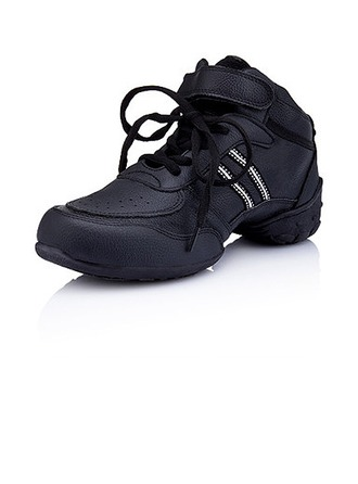 Women's Kids' Leatherette Flats Sneakers Practice Dance Shoes