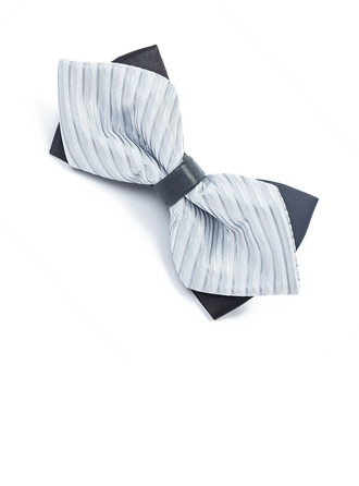 Stripe Satiné Bow Tie