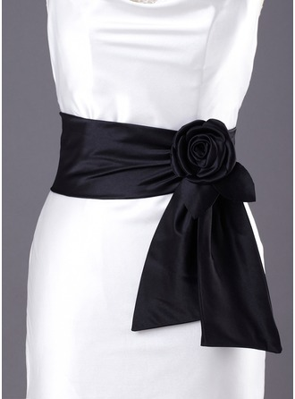 Simple Satin Sash With Flower