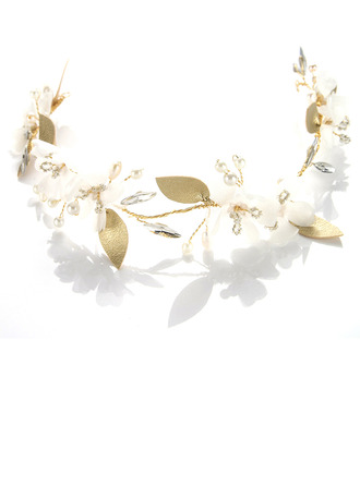Ladies Beautiful Alloy/Frosted flower Headbands With Rhinestone/Venetian Pearl