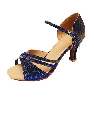Women's Cloth Heels Sandals Latin With Buckle Dance Shoes