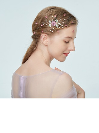 Ladies Glamourous Alloy Hairpins With Rhinestone/Venetian Pearl (Sold in single piece)
