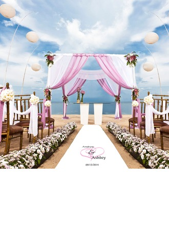 Personalized Heart design Print Cloth Aisle Runners