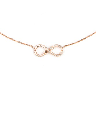 Silver Cubic Zirconia Infinity Pendant Necklace For Women For Girlfriend