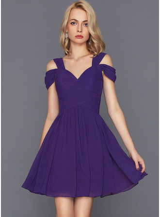 Sweetheart Short/Mini Chiffon Cocktail Dress