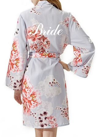 Personalized Bride Bridesmaid Cotton With Short Personalized Robes Embroidered Robes