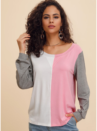Long Sleeves Polyester Round Neck Knit ()
