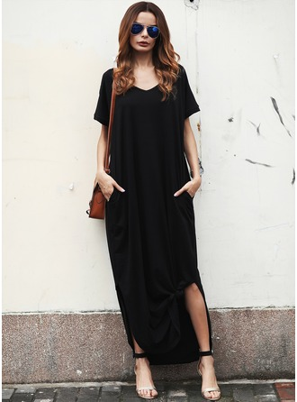 Spandex do/raiom Maxi Vestido