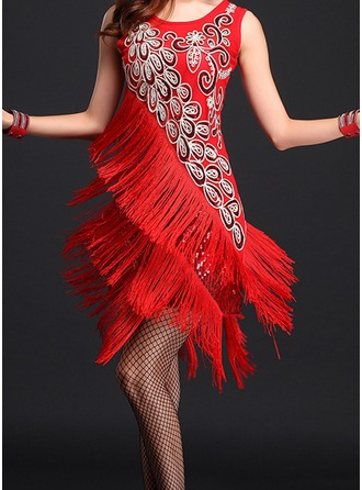 Women's Dancewear Polyester Latin Dance Dresses