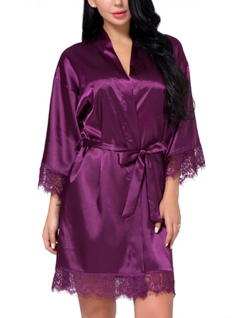 Bride Bridesmaid Silk With Short Girl Robes