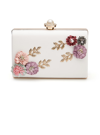 Unique PU With Flower/Imitation Pearl Clutches