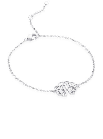 [Free Shipping]Christmas Gifts For Her - Custom Sterling Silver Link & Chain Name Bracelets (106218413)
