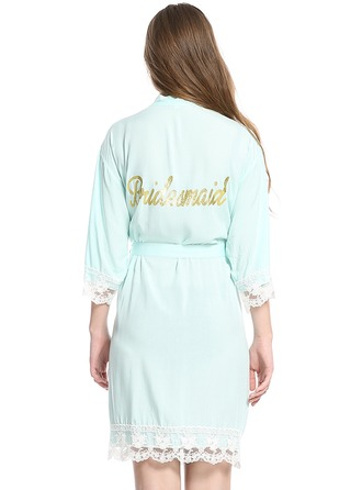 Personalized Cotton Bride Bridesmaid Glitter Print Robes