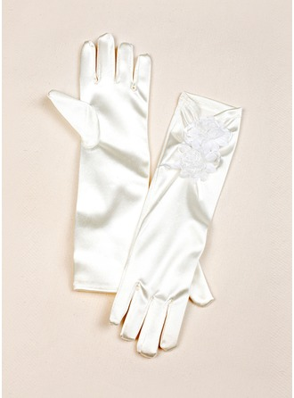 Elastisk Satin Elbow Lengde Glove
