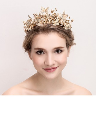 Ladies Magnificent Alloy/Imitation Pearls Tiaras