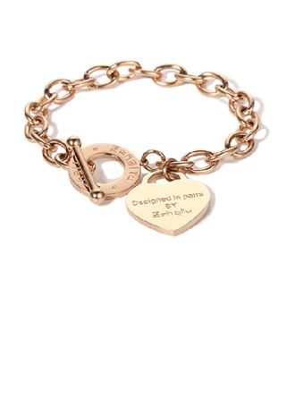 Personalized Ladies' Charming Rose Gold Plated Engraved Bracelets Bracelets For Bride/For Bridesmaid/For Friends