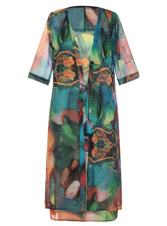 Chiffon With Print Midi Dress