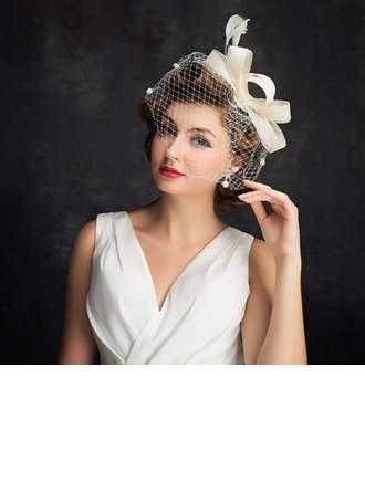 Dames Simple Batiste/Feather/Tulle avec Feather Chapeaux de type fascinator