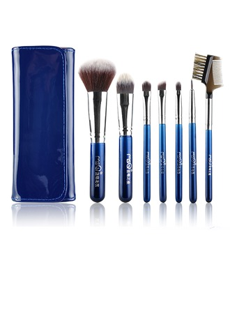 Artificial Fibre Fashion 7Pcs Blue Pouch Makeup Supply