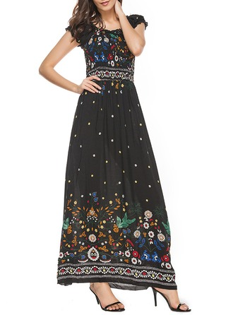 Cotton With Print/Knitting Maxi Dress