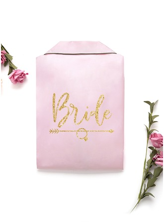 Personalizado charmeuse Novia Dama de honor Mamá Dama de honor junior Batas con estampado de purpurina