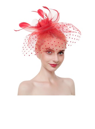 Ladies' Elegant/Eye-catching/Charming Feather/Net Yarn With Feather Fascinators/Tea Party Hats