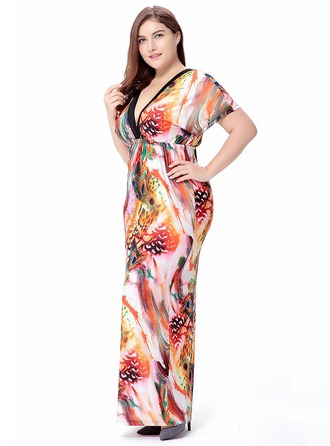Silk With Stitching Maxi Dress