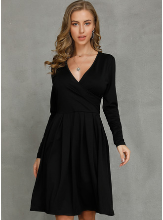 Polyester Knee Length Dress