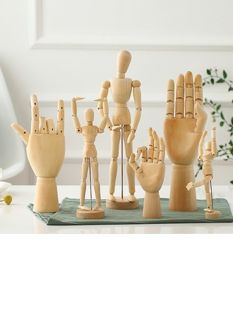 Novelty Wood Hand Figurines & Sculptures